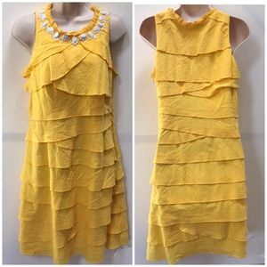 Dress Barn Vibrant Layered Lined Seashell Dress 6